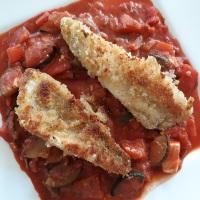 Zanderfilet auf Zucchini-Paprika-Tomate